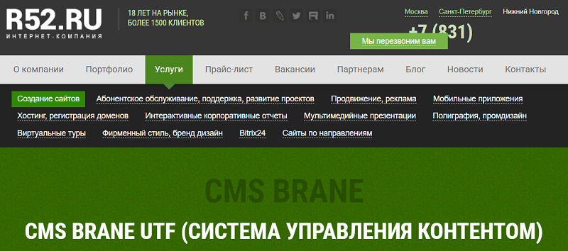 Обзор возможностей CMS Brane: плюсы и минусы студийного движка со встроенной системой управления интернет-магазином